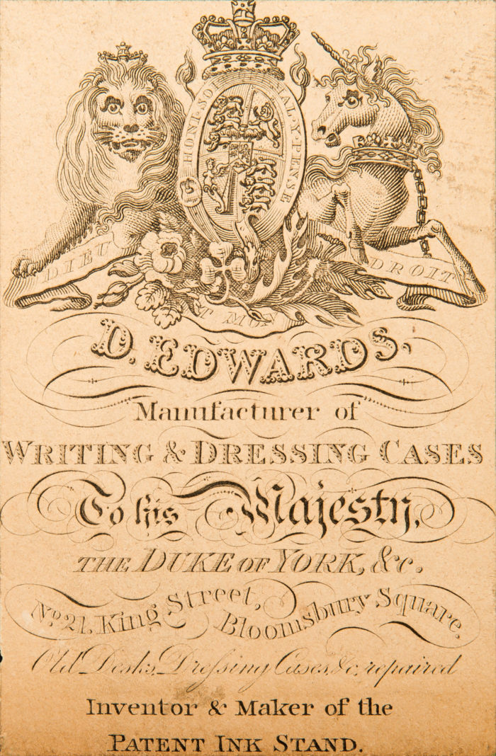 Paper Manufacturer's Label belonging to David Edwards, from 1827.
