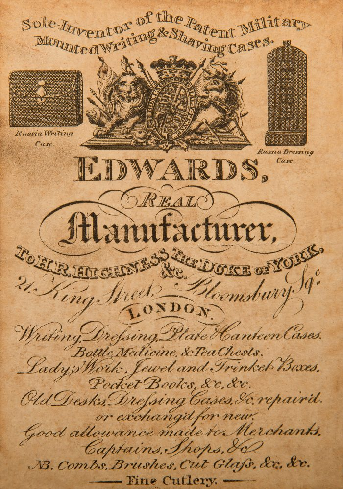 Edwards Paper Manufacturer's Label from c.1830.
