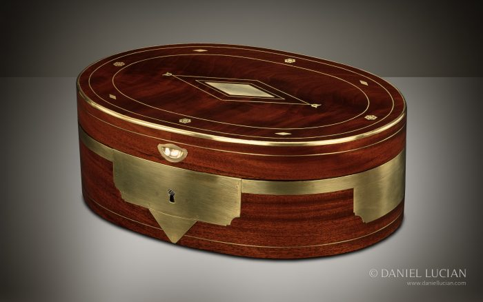 French Antique Jewellery Box in Cuban Mahogany, by Georges Monbro