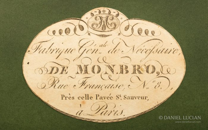 Paper Manufacturer's Label belonging to Georges Monbro, from 1806.